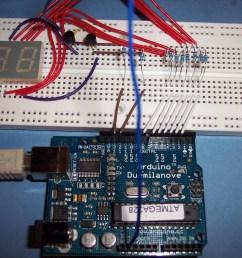 2 digit 7 segment display counter on breadboard [ 2304 x 1728 Pixel ]