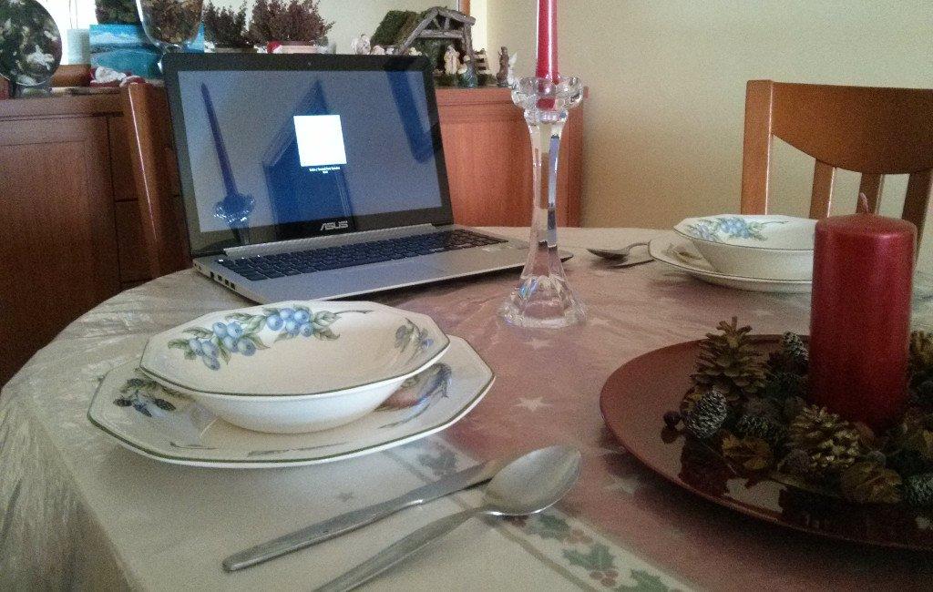Uso de la tecnología duante la cena de Navidad