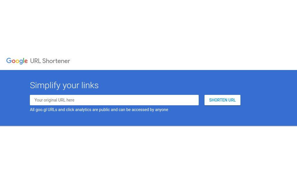 Interfaz de Google URL Shortener