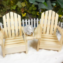 Miniature Adirondack Chairs Wedding Chair Cover Hire Dorset Wood Natural