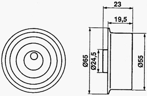 Cam Belt Kit Mitsubishi 2.4L 4G64 Chariot L200 L300 L400