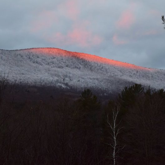 Sunrise on Hoarfrost Tinmouth Mountain