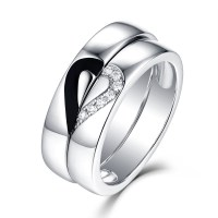 Unique Design 925 Sterling Silver Promise Ring For Couple ...