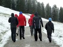 Das hatten wir uns anders vorgestellt oben am Söllereck - auf Winterwanderung waren wir nicht eingestellt (2011)