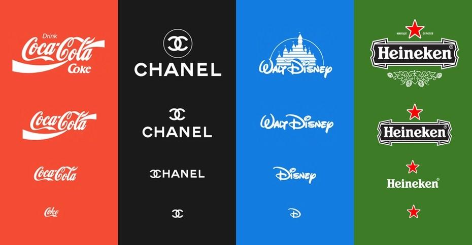 Variable Logos von bekannten Unternehmen