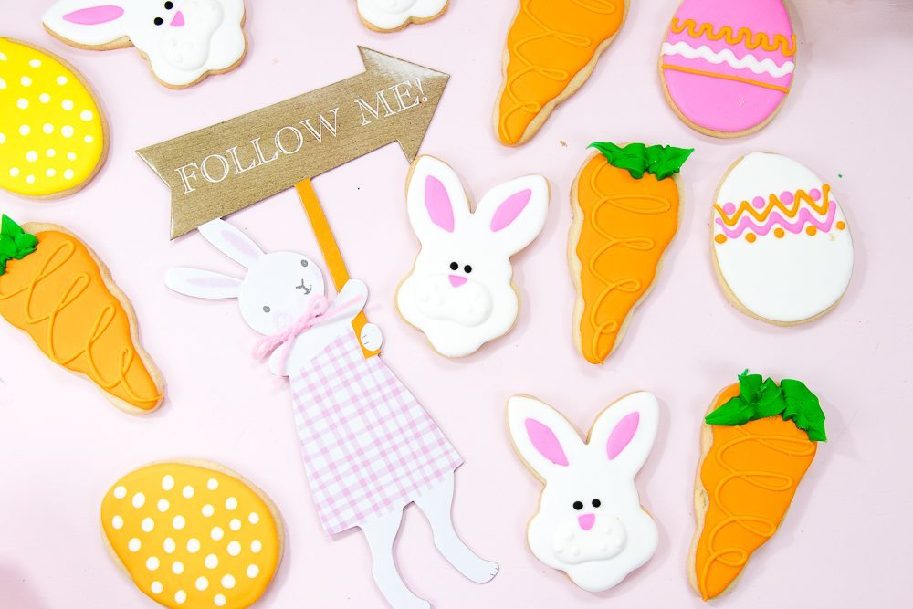 Fuzzy Bunny Decorated Easter Sugar Cookies Darling