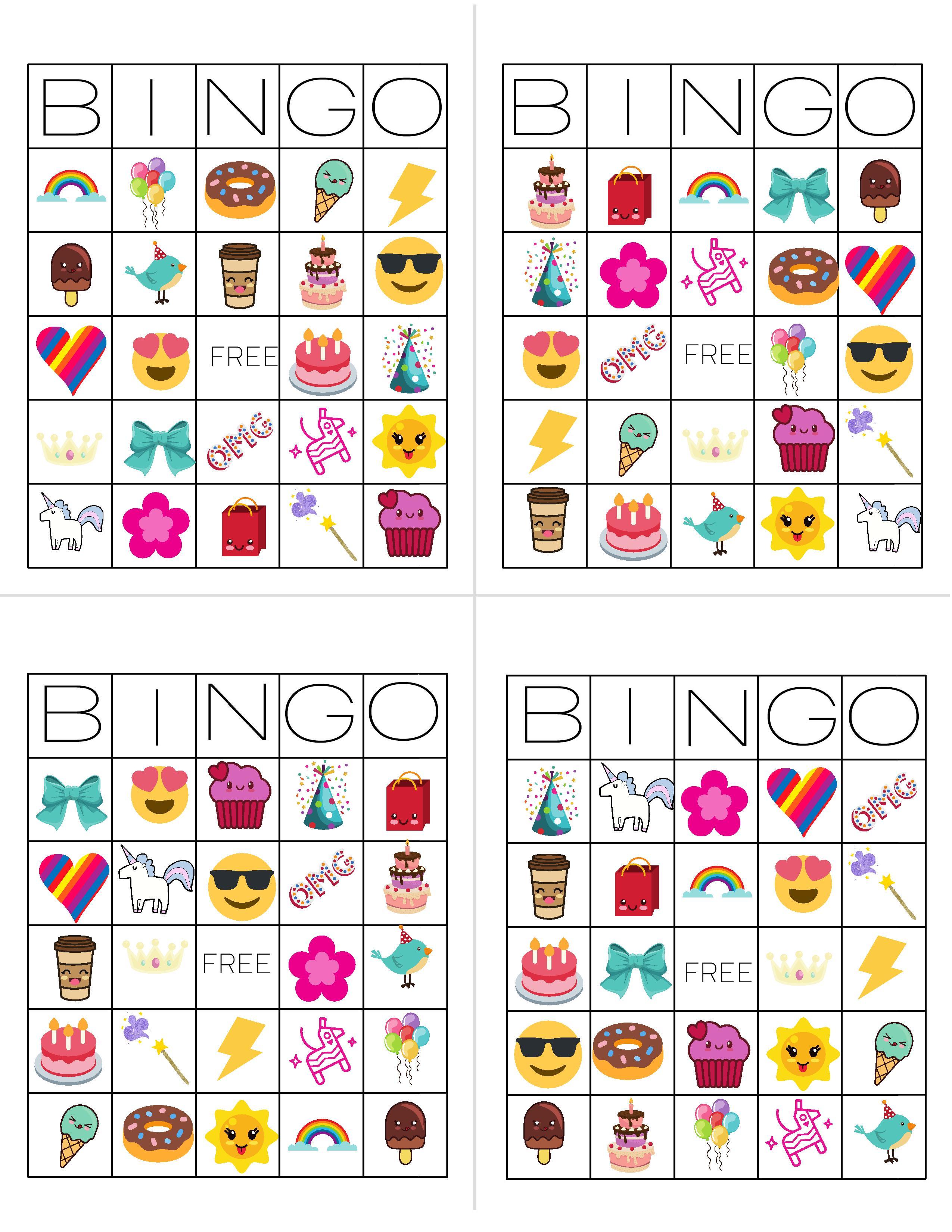 Unicorn Bingo Free Printable Download