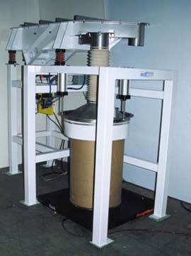 Drum Filler with Scale  vibrating compaction table