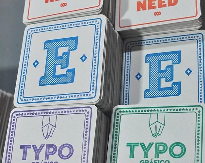Posavasos Tipográficos