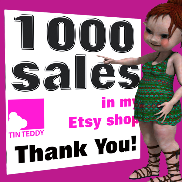 Tin Teddy 1000 Sales Character