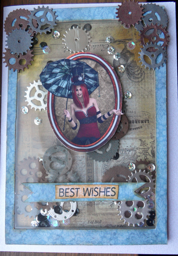 Steampunk Shaker Card tutorial