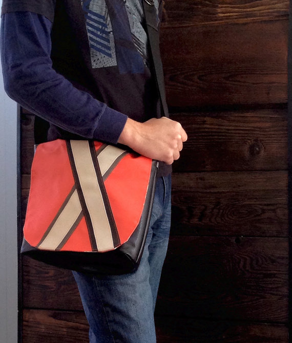 Men's Satchel Bag by Crafty Calista