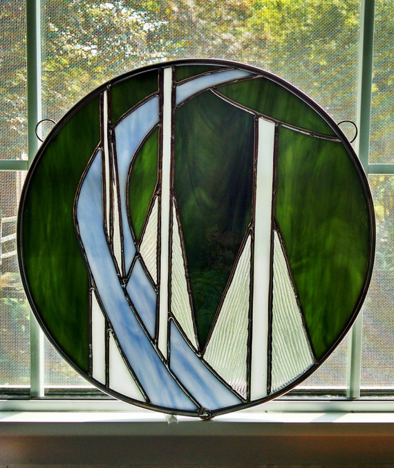 Stained Glass Suncatcher by StainedGlassYourWay