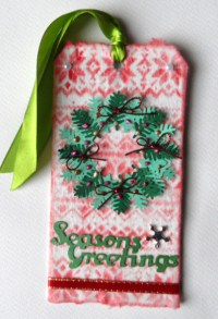 Christmas Tag - Tim Holtz 12 Tags of 2015 - Tutorial