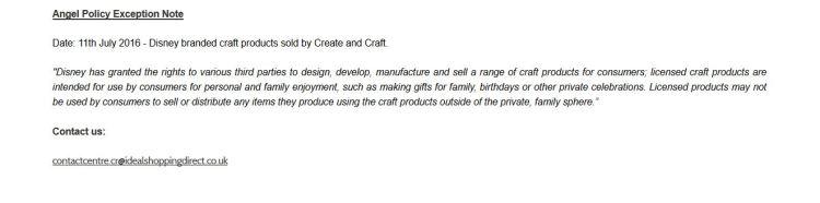 CreateCraftDisneyPolicy