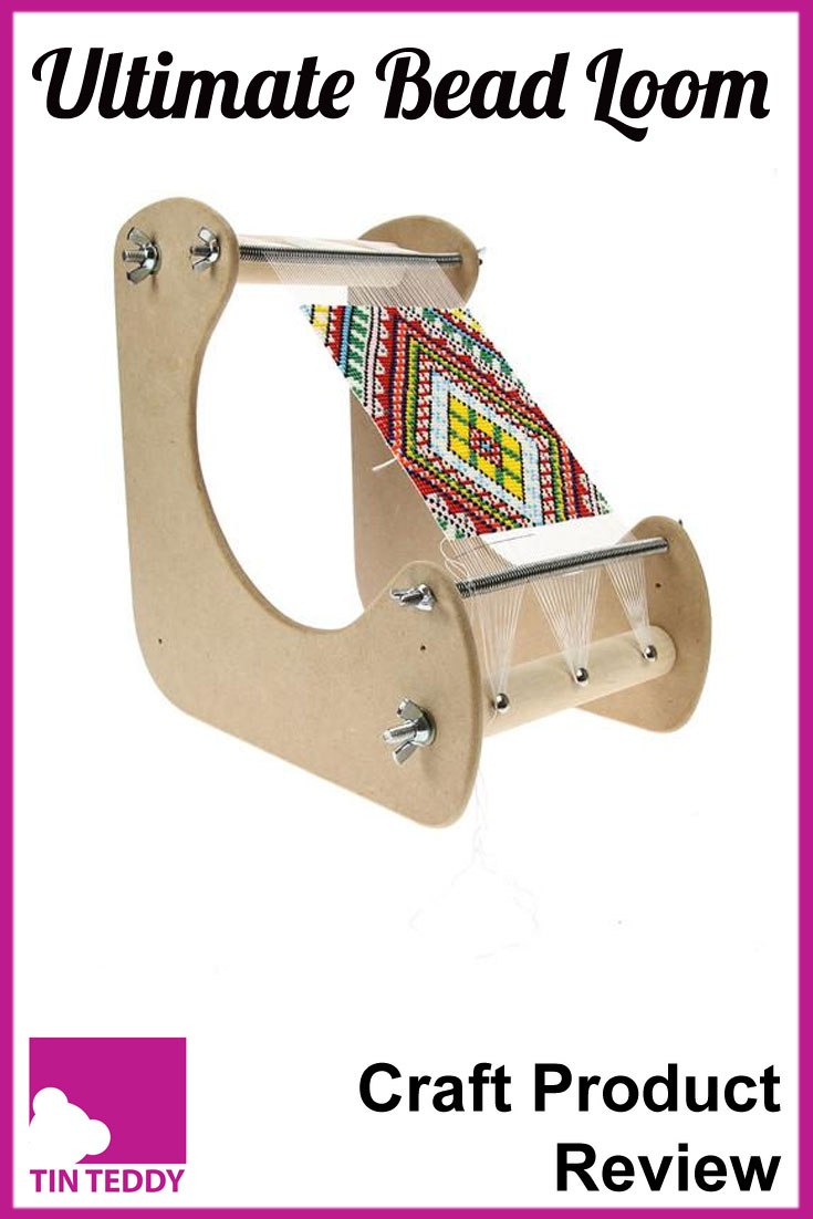 A review of the Ultimate Bead Loom by Peak Dale.  Is this really the ultimate in bead looms?  Illustrated review on the Tin Teddy Blog.
