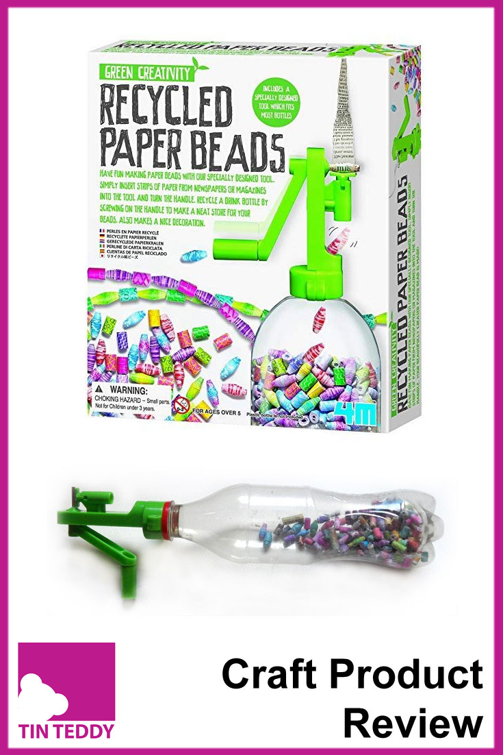 A review of the Recycled Paper Beads tool by Green Creativity.  Make paper beads quicker and easier.