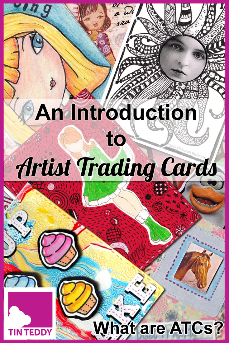 What are Artist Trading Cards (ATCs)?  Here is an introduction to this popular and fun art form.  What they are, how to make them and why you would want to!