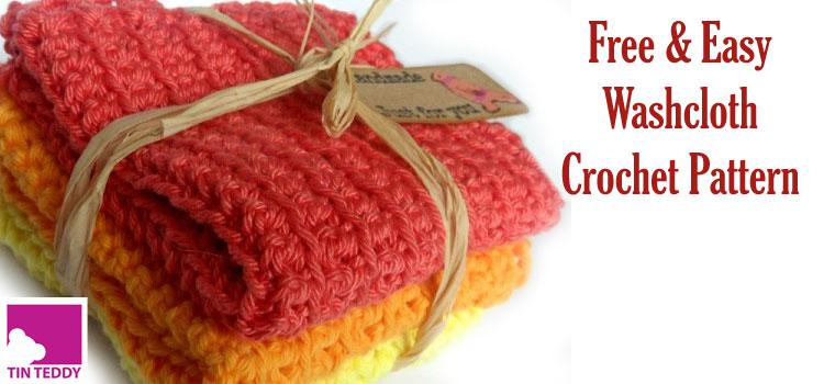 Super easy Crochet washcloth, flannel or dishcloth pattern