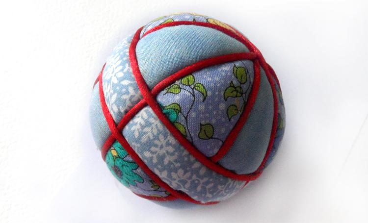 My first attempt at a kimekomi ball