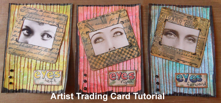 Eyes Artist Trading Cards Tutorial – Easy to make ATCs