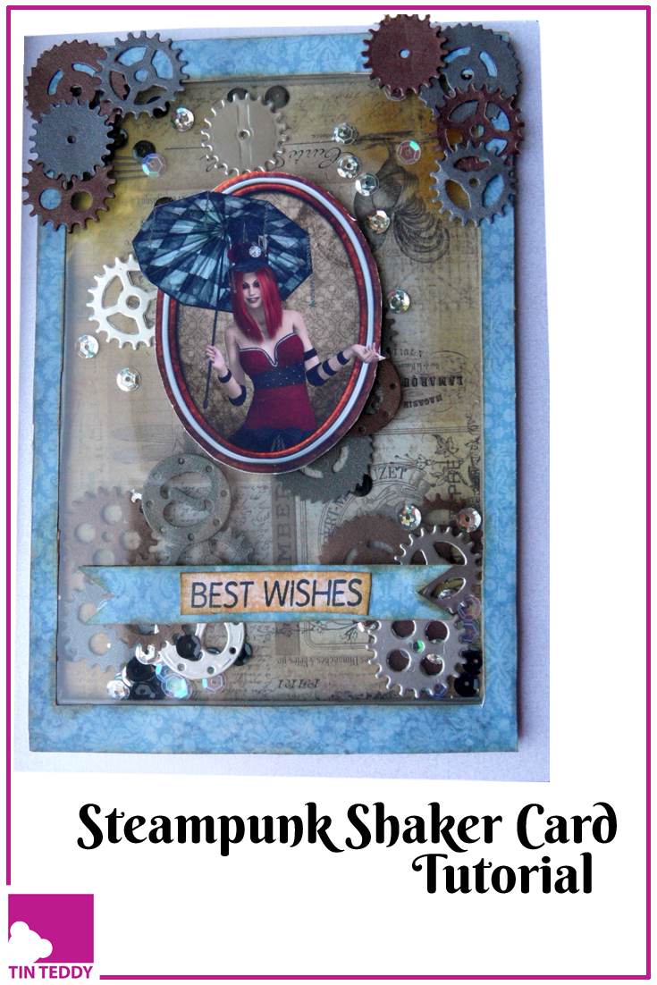 A detailed tutorial to make a Steampunk themed shaker card.  Ideal for a wide range of ages - something a little different.