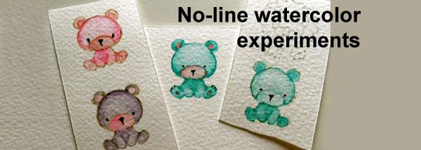 No-line watercolour experiements