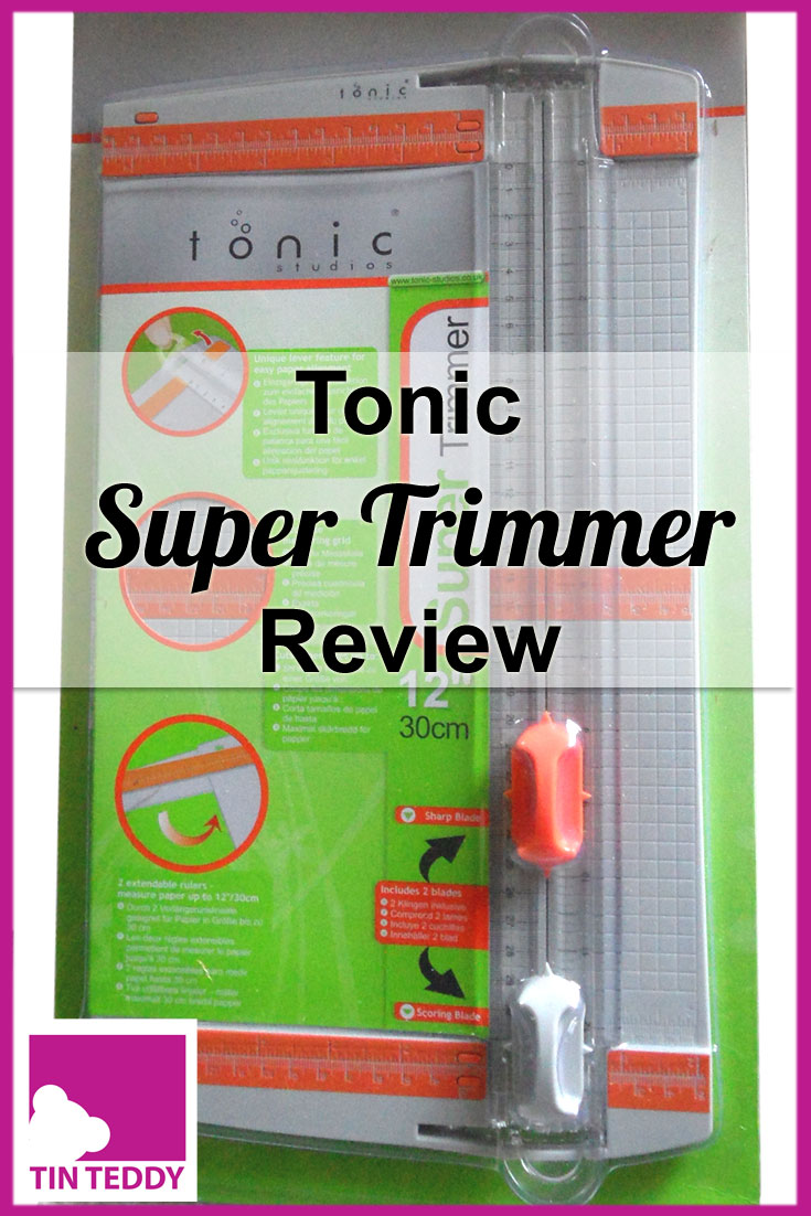 A review of the Super Trimmer from Tonic Studios.  A useful craft room trimmer that cuts paper and card accurately.  #papertrimmer #cardmaking #craftroom