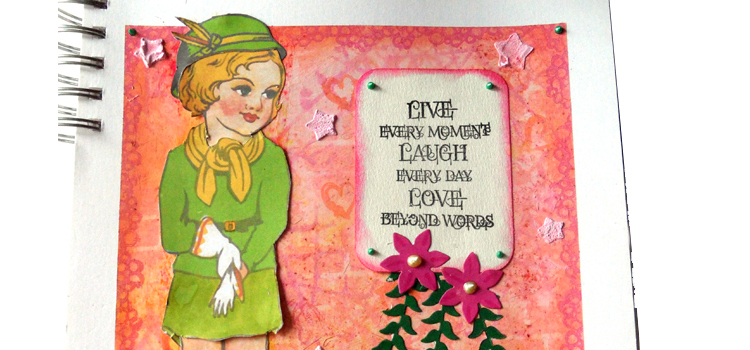 Little Girl Journal Page – Tutorial Journal Page and Background