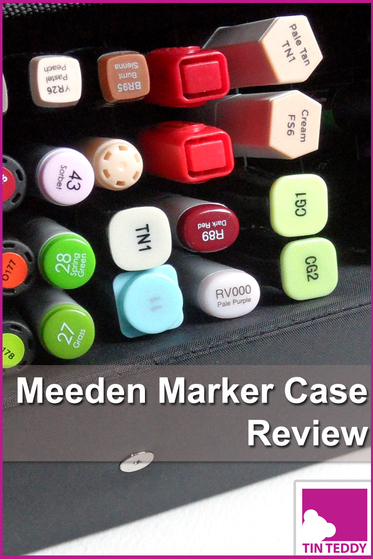 A review of the Meeden Marker Case - a great case for storing and transporting alcohol markers such as Copics, Promarkers and Spectrum Noirs.