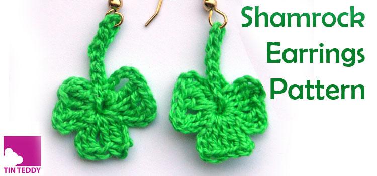 Crochet Shamrock Earring Pattern