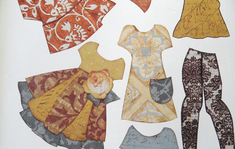 Collage Couture Studio Paper Dolls - clothes for the dolls