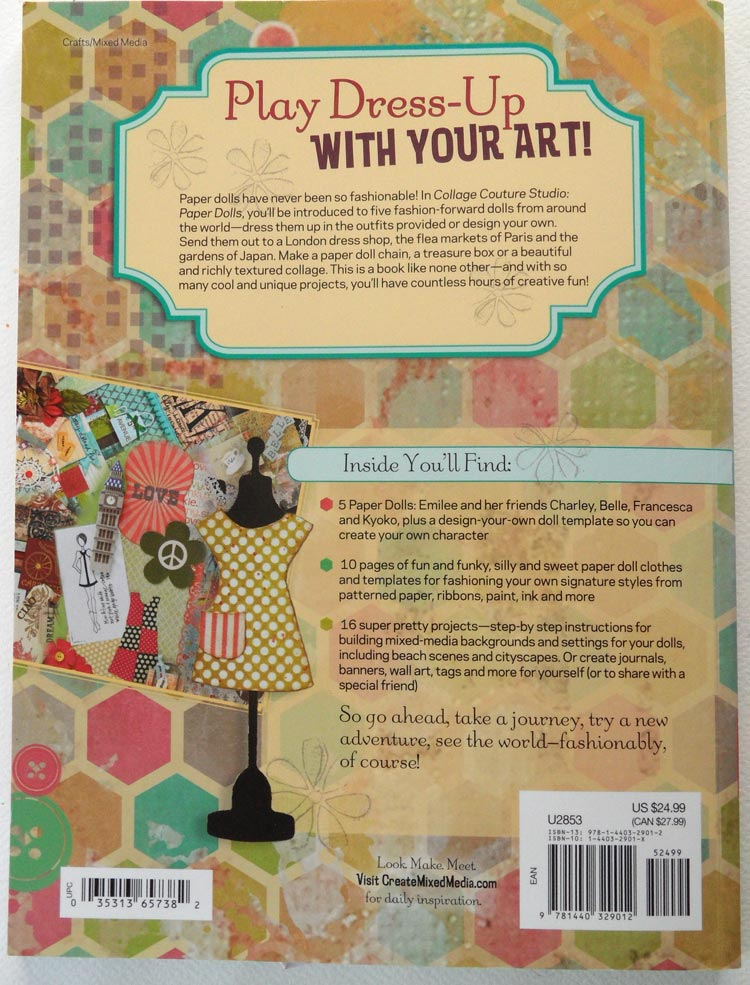 Collage Couture Studio Paper Dolls - the back cover