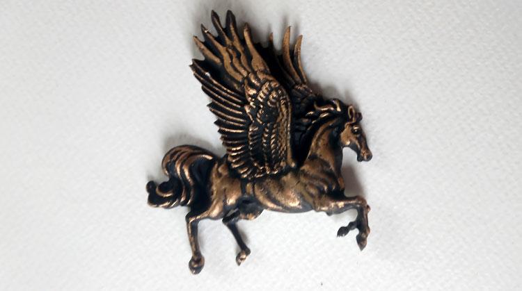 Pegasus with gilding wax