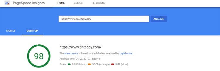 The Tin Teddy Blog is nice and speedy, yay