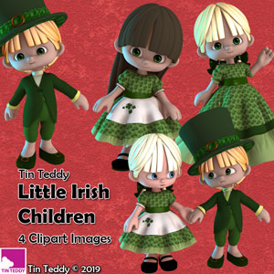 Free clipart with all purchases in the new Tin Teddy Shop until St Patrick's Day