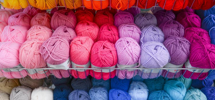 A big stock of beautiful yarn