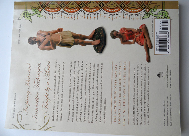 Creating Lifelike Figures in Polymer Clay - the back of the book
