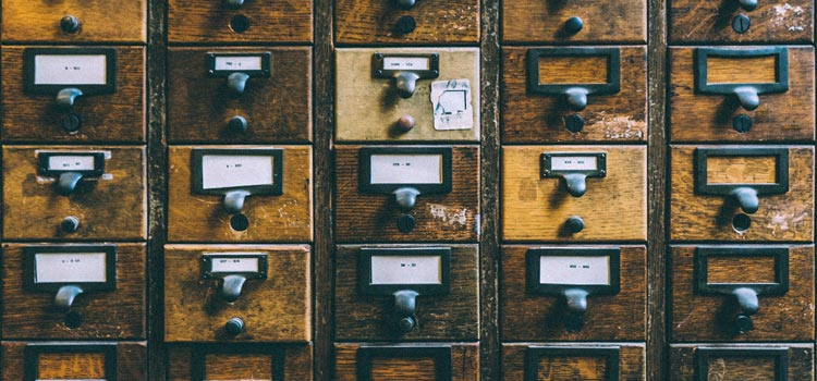 Vintage drawers are both practical and pretty