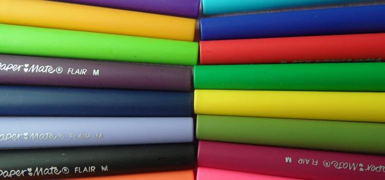 Paper Mate Flair Felt Tip Pens - Vivid Colours Set
