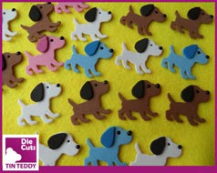 Tin Teddy Puppy Die Cuts