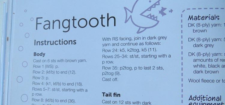 Mini Knitted Ocean - knitting instructions