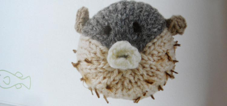 Mini Knitted Ocean - puffer fish