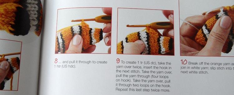 Mini Knitted Ocean - crocheting fins