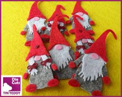 Tin Teddy Tomte Toppers