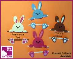 Tin Teddy Bunny Frame Die Cuts