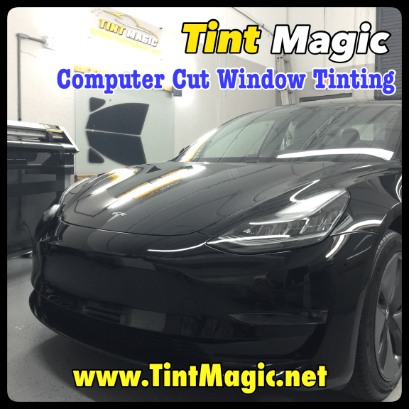 Tesla at Tint Magic Window Tinting Coral Springs