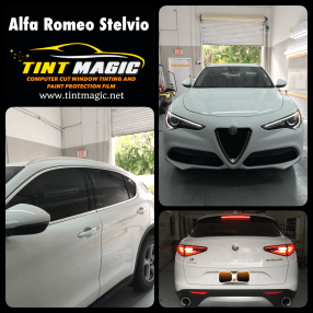 Alfa Romeo Stelvio at Tint Magic Window Tinting Coral Springs