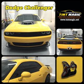 Dodge Challenger at Tint Magic Window Tinting Coral Springs