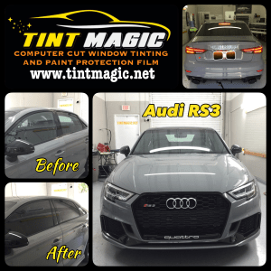 Audi RS3 at Tint Magic Window Tinting Coral Springs